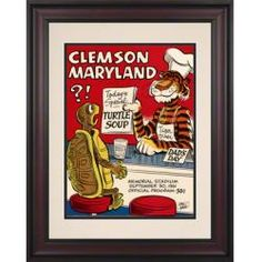 1961 Clemson vs. Maryland 10.5x14 Framed Historic Football Print
