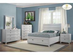 Homelegance Bedroom Queen Platform Bed With Footboard Storages