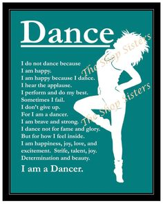 Dancer Inspirational Print Wall art by TheShopSisters on Etsy,