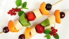 Seasonal fruit kabob skewers, or smaller with toothpicks