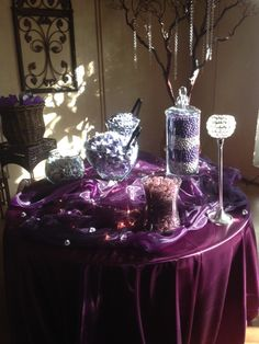 Plum and purple candy station