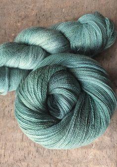 Winter Green   Hand Dyed Merino Silk Lace Yarn by sericin on Etsy