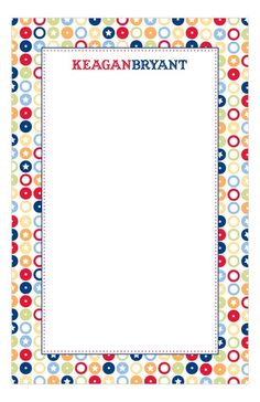 All Star Circles Note Pad : Personalized Notepads