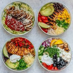 Grilled Chicken Meal Prep Bowls 4 Creative Ways for Clean Eating! - Clean Food Crush