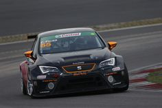 The SEAT Leon Eurocup at the Nürburgring in Germany during the qualifying
