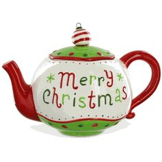 Christmas Teapot - Merry and Bright