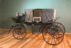 """The Shelburne Landau is from the 1890's, designed with a convertible top. It was owned by the Ace Hudkin's Movie Ranch and used in """"Gone With the Wind"""", """"Jezebel"""", and """"A Man From Texas"""". http://nwcarriagemuseum.org/ history, carriages, victorian, edwardian, 1890's, 1900's."""