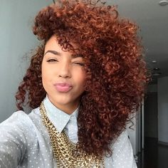 Love the color of these curls! Black Girl Red Hair, Light Skin Black Girls, Black Curly Hair, Dyed Natural Hair, Natural Hair Tips, Dyed Hair, Natural Hair Styles, Natural Curls, Hair Color Auburn