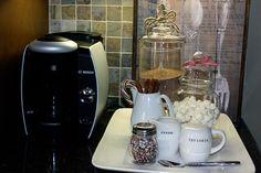 hot cocoa/herbal tea bar/nook inspriation