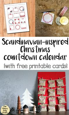 12 Days of Christmas / Scandinavian-inspired countdown advent calendar / Handmade holiday idea / Free printable cards #christmas #freeprintable