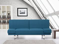 nice Upholstered Sofa bed - Couch - Fabric - Sofa - Settee - blue YORK Buy this and much more home & living products at http://www.woonio.co.uk/p/upholstered-sofa-bed-couch-fabric-sofa-settee-blue-york/
