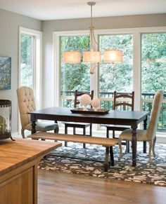 Dining area of this beautiful multi-generational Craftsman style home. House Plan No.326932 House Plans by WestHomePlanners.com