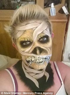 The mother-of-three taught herself the art of face painting