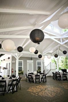 Paper lanterns are awesome for both indoor and outdoor wedding décor because they create that special romantic atmosphere. They are very easy to DIY, so you'll save a part of your wedding budget making them yourself.
