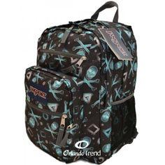 Jansport Big Student Backpack in Black Blind Bluhlfbn T15X9TG with Blue Skulls for $48.00 at OrlandoTrend.com  #Jansport #Backpack #Bookbag #Maletin #Mochila  #OrlandoTrend