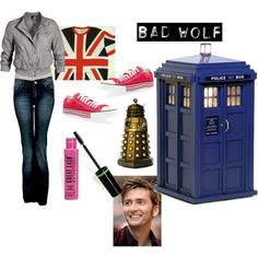 "my halloween costume this year!  ""BAD WOLF (Rose Tyler)"" by steam on Polyvore"