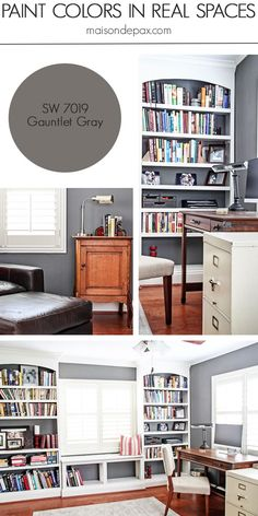 Gauntlet Gray (SW 7019) by Sherwin Williams: see paint colors in real spaces in this home tour full of lovely, nature-inspired neutrals | maisondepax.com