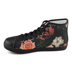 Flowers, floral, pink, black Women