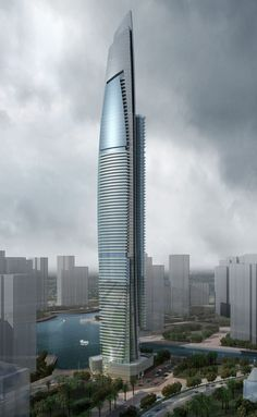DAMAC Heights   Aedas   Architecture   Residential   Dubai, UAE
