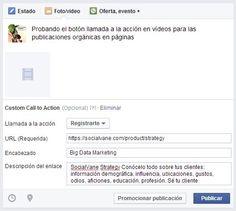 Facebook activa el botón llamada a la acción en vídeos para las publicaciones orgánicas en páginas