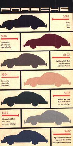 // Porsche 356A Color Chart