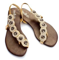 Love these bejeweled sandals from Fibi & Clo!