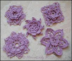 free irish crochet flower patterns - Google Search