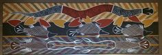Aboriginal Art Water Snake by Russell Yilamara Brown