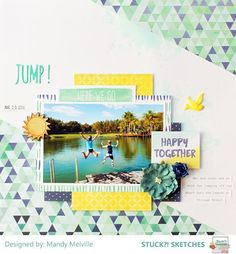 Image result for scrapbook layouts jumping