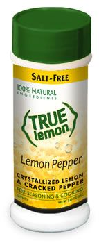 Halt the salt! New True Lemon Pepper is made from natural ingredients and contains no sugar or salt. Excellent for chefs, people who are on a low-sodium diet or weight loss plan, and those who like to eat healthy! Low Salt Recipes, Low Sodium Recipes, Free Recipes, Sodium Foods, Easy Recipes, Low Iodine Diet, Low Glycemic Diet, Super Healthy Recipes, Heart Healthy Recipes