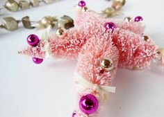 Vintage Holiday Star Christmas Tree Ornament by BloomingGoddess, $15.99