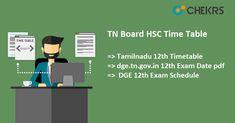 TN Board HSC Time Table  #Tn #board #HSC #timetable #chekrs #edtech #edchat #learning #education #ukedchat