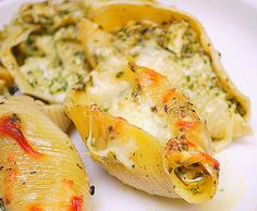 Pesto Chicken Stuffed Shells