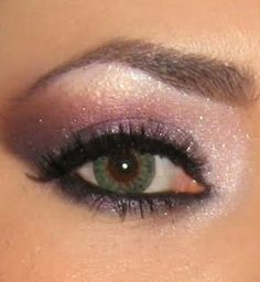 can be done with beach blonde base, moonstone in the lightest areas, silky caramel in between crease and brow bone, violet storm, and coal!!