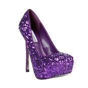 Bling purple heels | Purple passion | More purple lusciousness here: http://mylusciouslife.com/purple-passion/