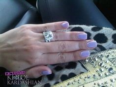 Love her nails but how about that ring Mani Pedi, Pedicure, Khloe Kardashian Nails, Lilac Nails, Celebrity Engagement Rings, Opi Nails, Makeup Inspo, Christmas Nails, Pretty Nails