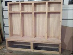 Original Wooden DIY Mudroom Lockers