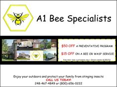 Book your preventative program with A1 Bee Specialists