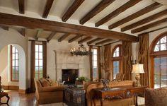 Mediterranean Equestrian Estate - Ceiling Beams