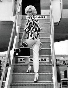 Marilyn Monroe i svart/vitt.