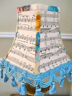 Vintage Sheet Music Lampshade by Sassyshades on Etsy