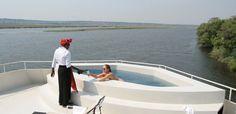 AmaWaterways - Swimming pool aboard zambezi Queen