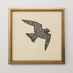Sammamish Bird Woodblock Print
