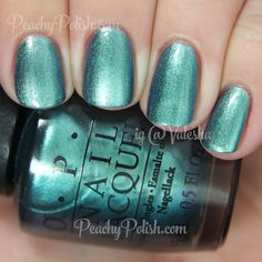 OPI This Color's Making Waves   Spring 2015 Hawaii Collection   Peachy Polish #blue