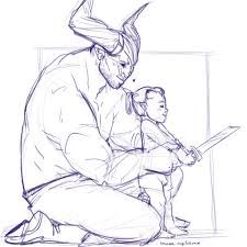 iron bull romance fan art - Google Search