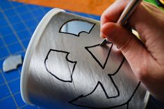 DIY Halloween luminaries from recycled baby formula cans - Merriment Design - Real Time - Diet, Exercise, Fitness, Finance You for Healthy articles ideas Diy Halloween Luminaries, Cheap Halloween Decorations, Halloween Crafts, Crafts Out Of Pallets, Baby Formula Cans, Oatmeal Container, Paper Lanterns, Crafts To Make, Diy Design