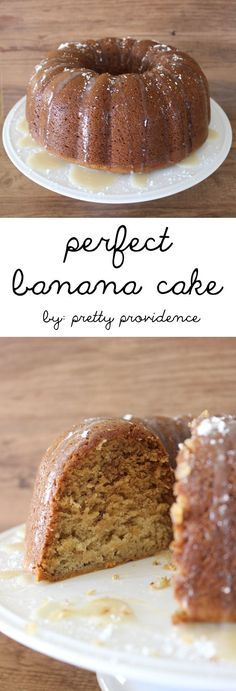 Guys this banana cake with vanilla glaze gets ! It's so easy to make, and it's lick-the-plate-clean good. Plus, who doesn't love a recipe that could be dubbed a breakfast or a dessert ? A perfect recipe to make ahead when family comes too, beca Banana Bundt Cake, Banana Dessert, Crazy Banana Cake Recipe, Glaze For Bundt Cake, Cake Glaze, Bunt Cakes, Cupcake Cakes, Rose Cupcake, Just Desserts