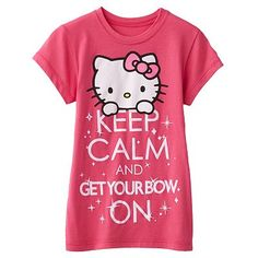 HK |❣| HELLO KITTY Keep Calm and Get Your Bow On T-Shirt