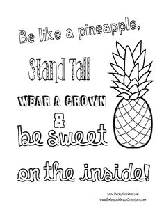 Pineapple Coloring Pages My