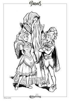 Klein Duimpje Van Sprookjesboom Efteling Kleurplaat Doodle